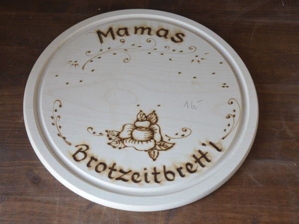 Brotzeitbrett, Motiv Rose